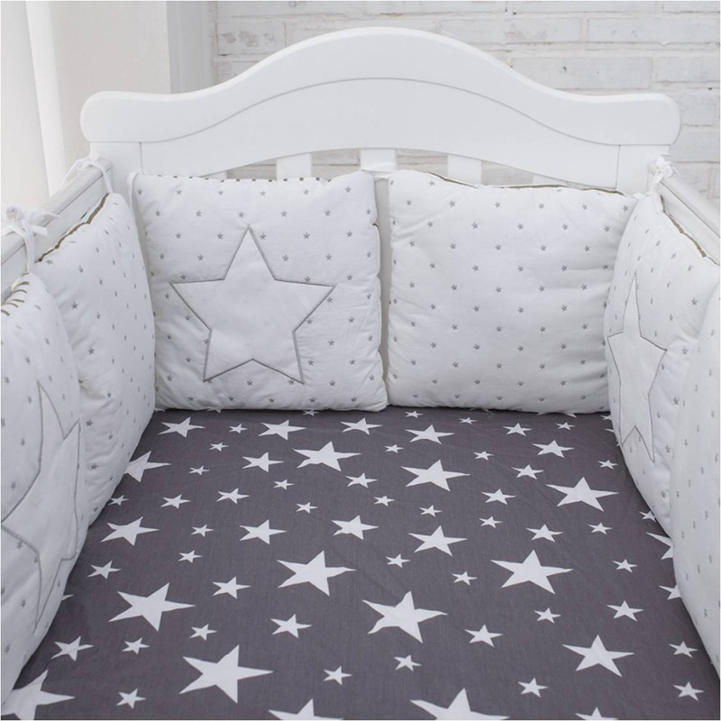 6pcs Baby Cot Crib Bumper Safety Padded Protector Infant